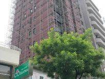 東京都文京区の某賃貸マンション 足場の仮設工事 施工事例