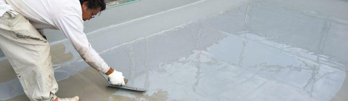 某ビルの屋上防水(ウレタン)の施工をしております|千葉県習志野市のお客様