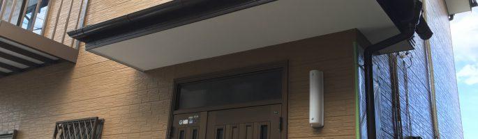 外壁の塗装工事(上塗り)を行っております|千葉県習志野市の戸建て住宅