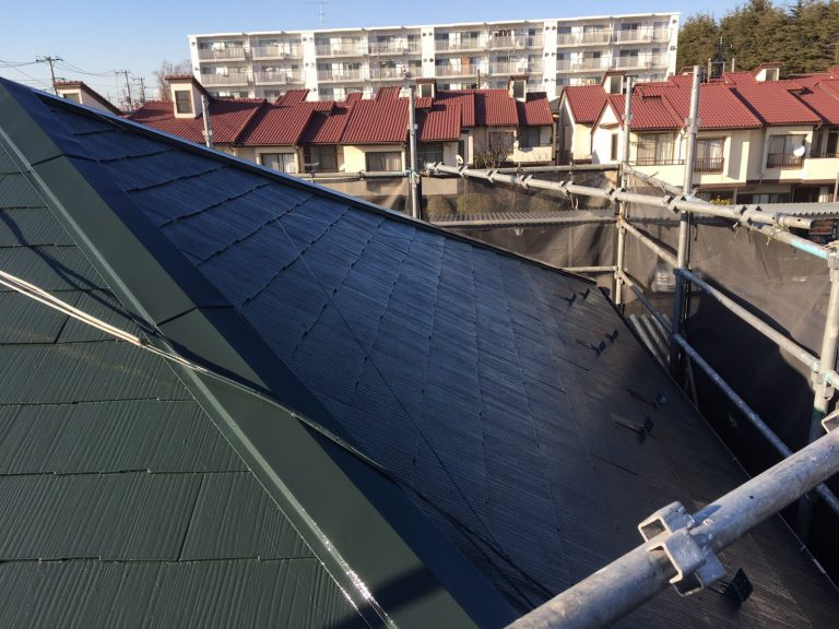 千葉県市川市のM様邸(木造2階建て)|スレート屋根の塗装工事の施工例
