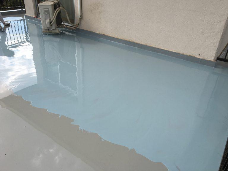 屋上の経年劣化による雨漏りの防水工事(ウレタン防水)|千葉市若葉区中野のY様邸
