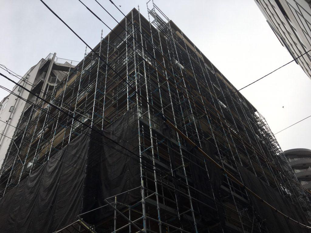 仮設足場の組み立て工事後