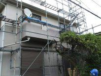 木造2階建ての架設足場の組み立て工事|千葉県船橋市薬園台のW様邸