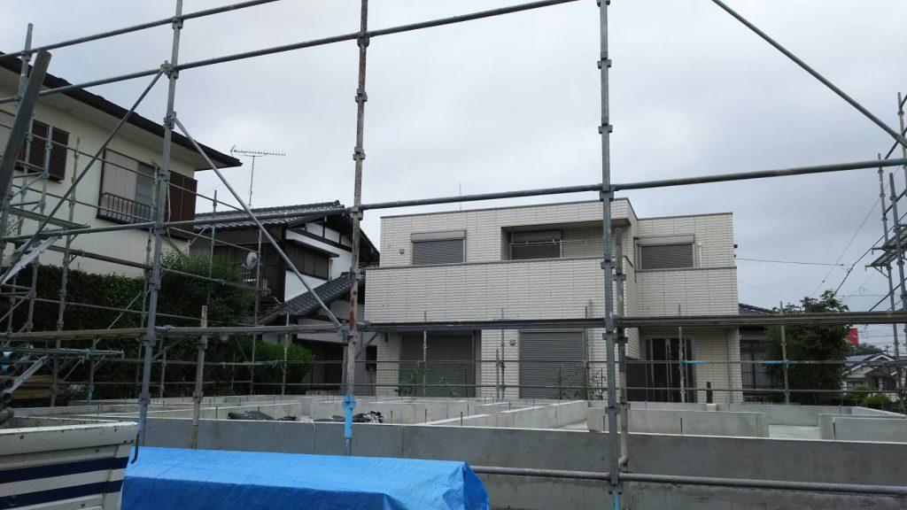 新築住宅の足場工事