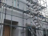 木造戸建ての架設足場の組み立て工事 千葉県習志野市実籾のG様邸
