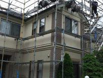 木造一戸建ての架設足場の組み立て工事 千葉県船橋市塚田のS様邸