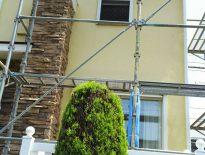 木造2階建ての架設足場の組み立て工事|千葉市花見川区のG様邸