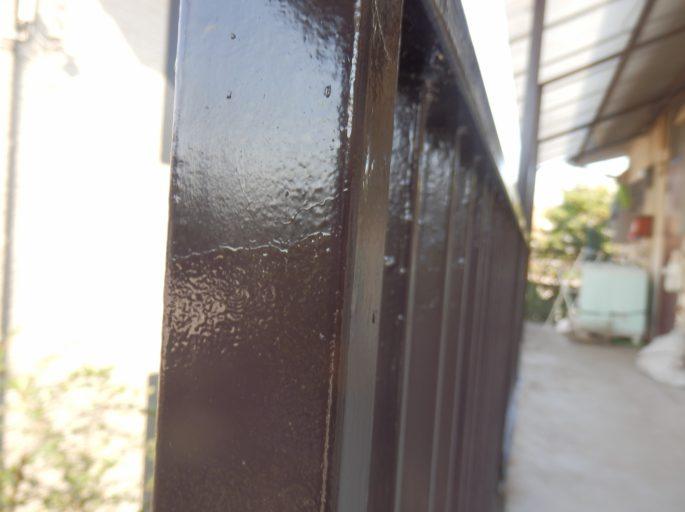 アパートの鉄部塗装