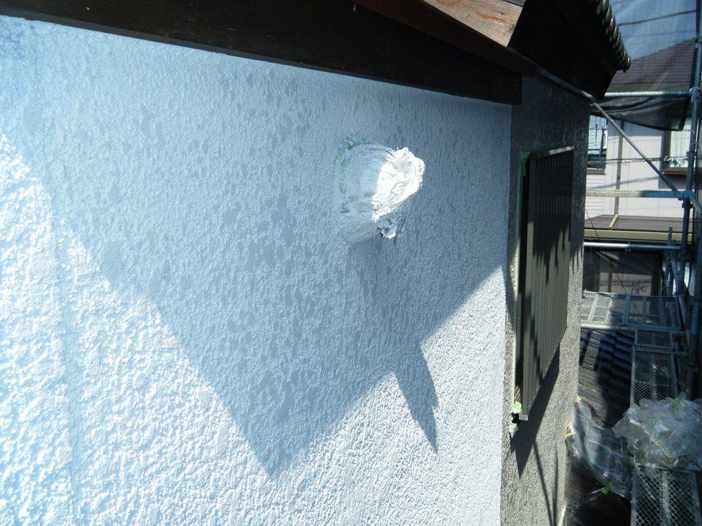 養生してからの外壁塗装
