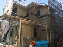 分譲住宅の仮設足場の組み立て工事|千葉県浦安市北栄のD様邸の施工事例