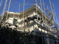 木造二階建ての仮設足場の組み立て工事|千葉県船橋市のG様邸にて足場工事