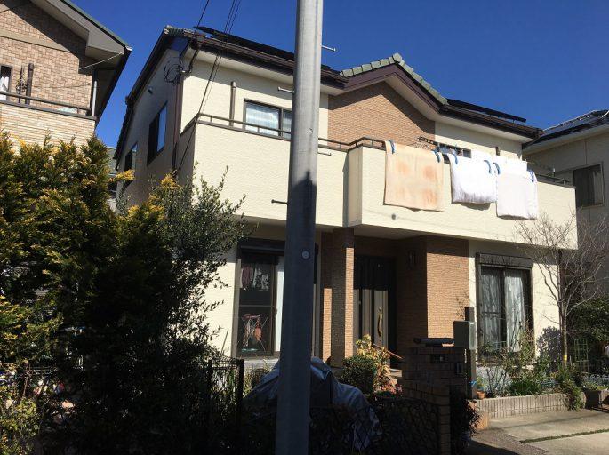 木造二階建ての外壁・付帯部の塗装工事(ツートンカラー)
