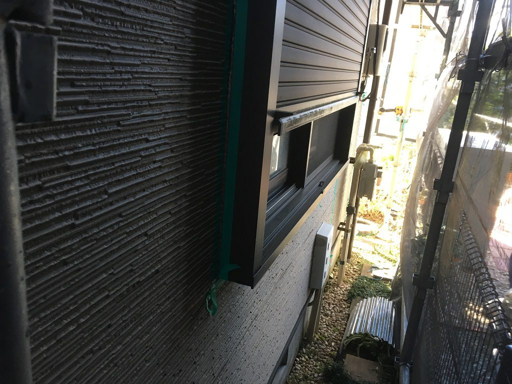 窓のシャッター塗装