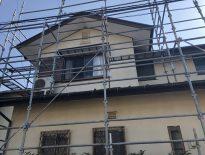 木造二階建ての仮設足場の組み立て|千葉県東金市にお住いのD様邸の足場工事