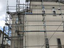 木造二階建ての仮設足場の組み立て|千葉県富津市にお住いのA様邸の足場工事