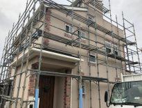 木造二階建ての仮設足場の組み立て|千葉県印西市にお住いのY様邸の足場工事