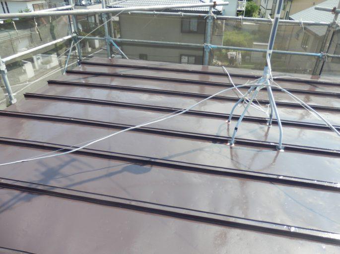 ガルバニウム鋼板屋根の塗装工事
