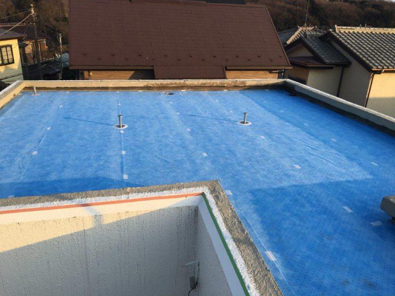 雨漏りに伴う屋上の防水工事(ウレタン塗膜・通気緩衝工法) 千葉県習志野市新津田沼の某賃家にて雨漏り修理