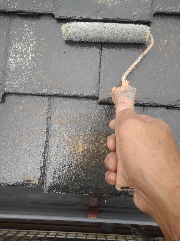 屋根の塗装工事 千葉県浦安市にお住いのH様邸にて屋根の塗り替えリフォーム工事