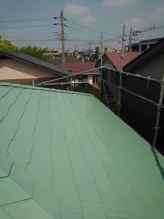 屋根の塗装工事|千葉県浦安市にお住いのH様邸にて屋根の塗り替えリフォーム工事