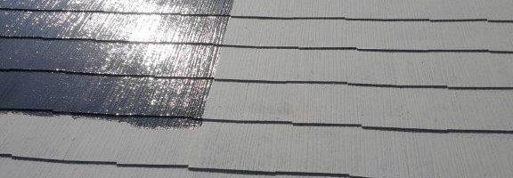 コロニアル屋根の塗装工事|茨城県神栖市のH様邸にて塗り替えリフォーム中