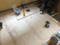 千葉県八千代市にて床の改修工事