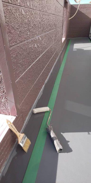 ベランダの防水工事|茨城県守谷市のO様邸にて雨漏り修理
