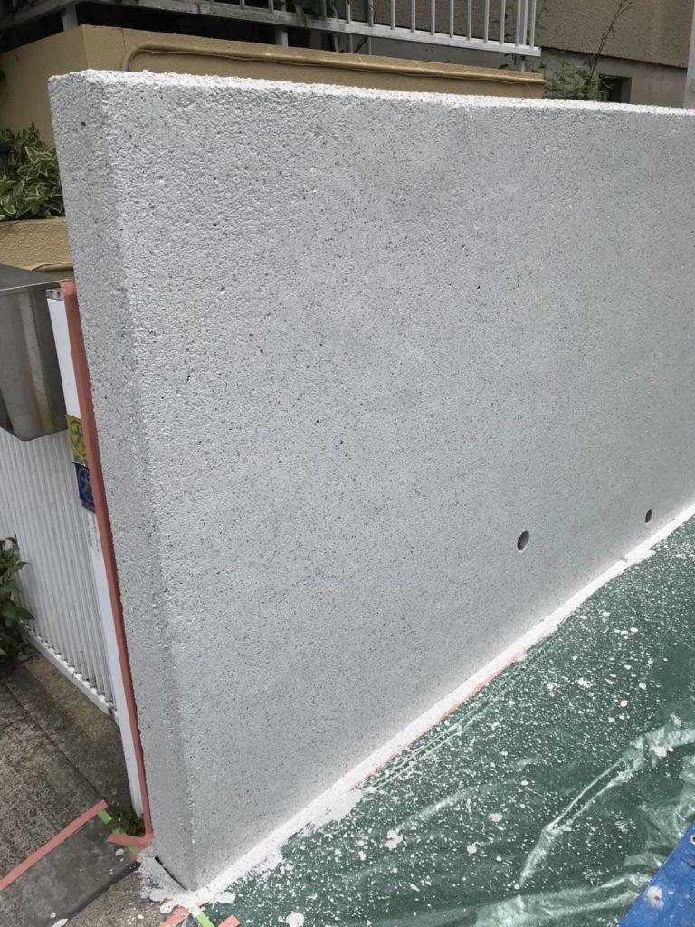 囲い壁の塗装後