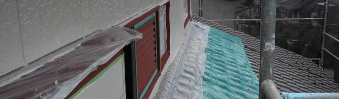 千葉県佐倉市のW様邸にて外壁の塗り替え塗装(上塗り)