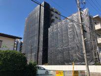 大規模修繕に伴う仮設足場の組み立て|船橋市津田沼のRマンションにて足場工事