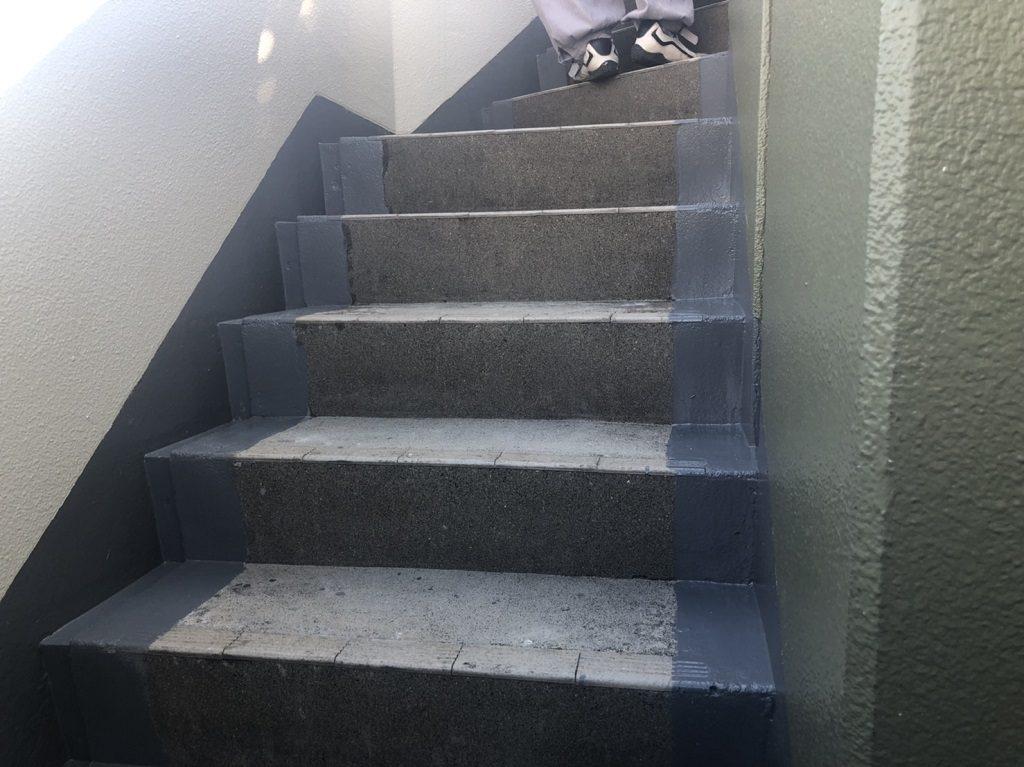 階段への線防水
