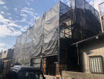 木造二階建ての仮設足場の組み立て|千葉県船橋市のA様邸にて足場工事