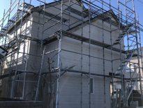 外装リフォームに伴う仮設足場の組み立て|千葉県九十九里町のM様邸にて足場工事