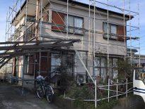 外壁・屋根の塗り替えに伴う仮設足場の組み立て|千葉県袖ヶ浦市のE様邸にて足場工事