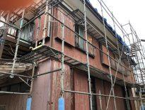 外壁・屋根の塗り替えに伴う仮設足場の組み立て|千葉県安房郡鋸南町のD様邸にて足場工事