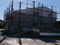 仮設足場の組み立て|千葉県木更津市のE様邸にて足場工事