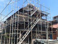 塗装工事に伴う仮設足場の組み立て|千葉県松戸市のS様邸にて足場工事