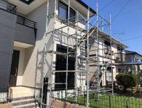 部分的な仮設足場の組み立て|千葉県〇〇市の〇様邸にて足場工事