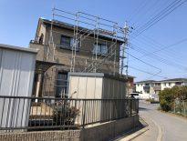 部分的な仮設足場の組み立て|千葉県習志野市のU様邸にて足場工事