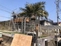 部分足場の組み立て工事|千葉県八千代市のH様邸にて足場工事