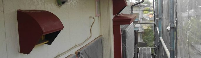 千葉県習志野市のT様邸にて外壁・鉄部の塗装工事