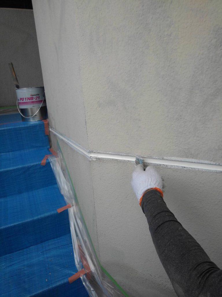 外壁目地のコーキング補修