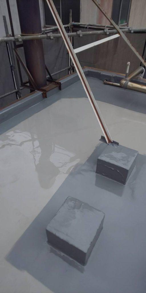 トップコート 立ち上がり 2層目塗装