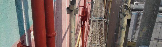雨樋(縦樋)の塗装工事|千葉県習志野市のT様邸にて塗り替えリフォーム中