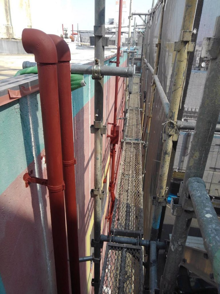 雨樋(縦樋)の塗装工事