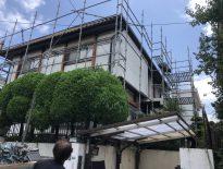 屋根補修に伴う仮設足場の組み立て|千葉市若葉区のS様邸にて足場工事