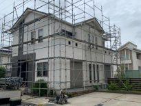 塗装工事に伴う仮設足場の組み立て|千葉県市原市のT様邸にて足場工事