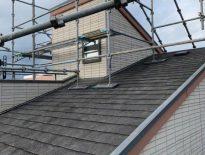 屋根の足場組み立て|千葉県市川市のT様邸にて足場工事