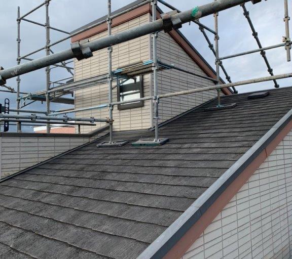 屋根の足場工事