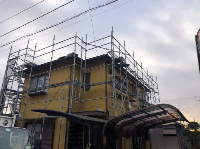 外壁塗装に伴う足場工事